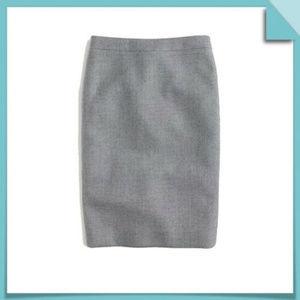 J Crew Xs 0 2 P Gray Wool Pencil Skirt